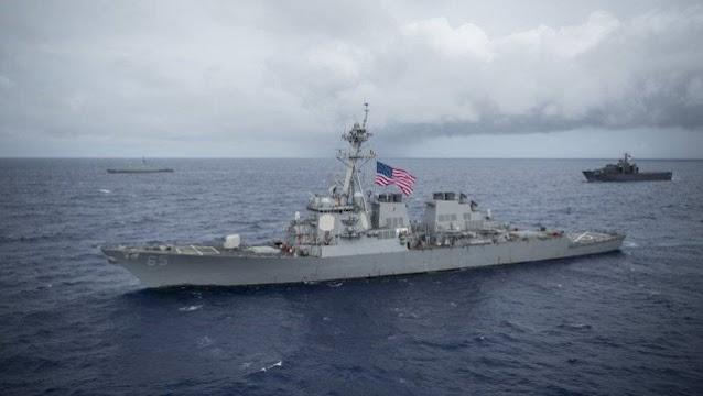 Tegang, China Usir Kapal Perang AS yang Masuk LCS