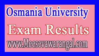 Osmania University BA (Lang) Oct 2016 Exam Results