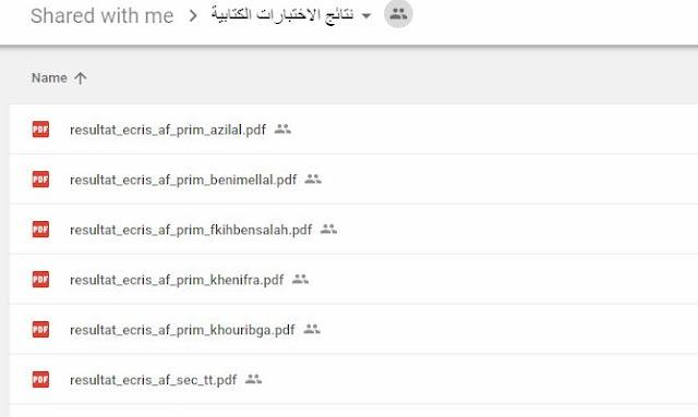 نتائج الاختبارات الكتابية مباراة التوظيف بالتعاقد 2018 جهة بني ملال خنيفرة
