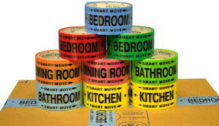 Color and Room Coded Packing Tape