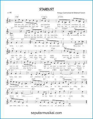Stardust chords jazz standar