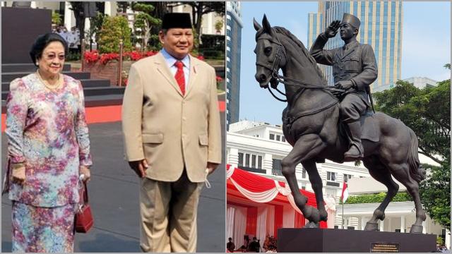 Prabowo Resmikan Patung Sukarno, Megawati: Terima Kasih Sahabat