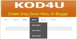 How to create Drop Down Menu in Blogger with Pictures