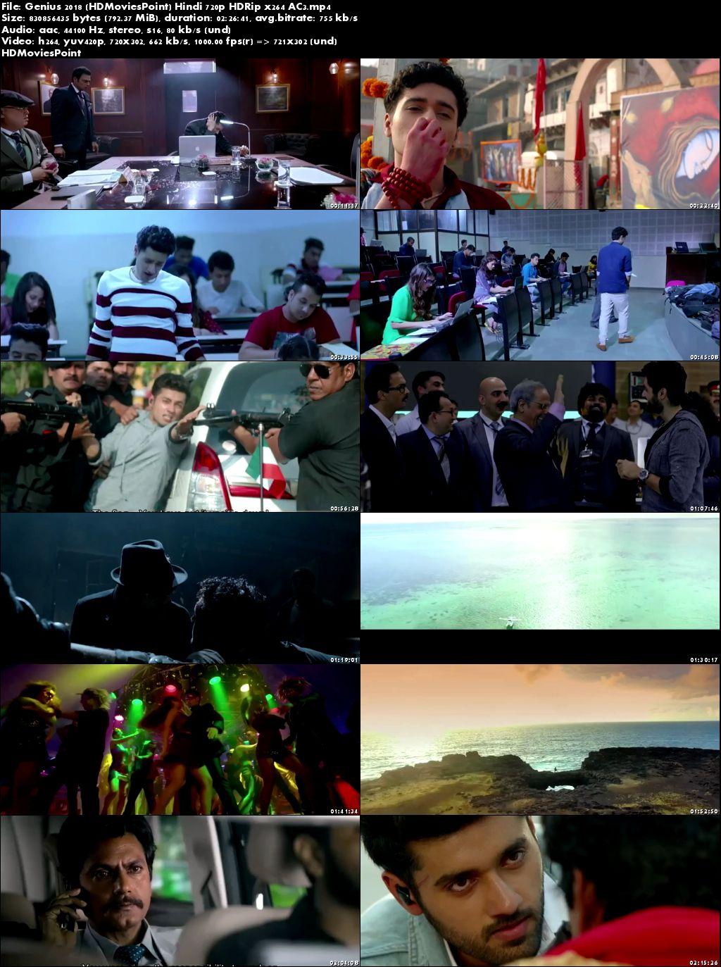 Screen Shots Genius 2018 Full Hindi Movie Download HD 720p