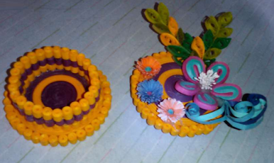 2015 Quilling Paper Jewellery or Coin Box Designs for functions