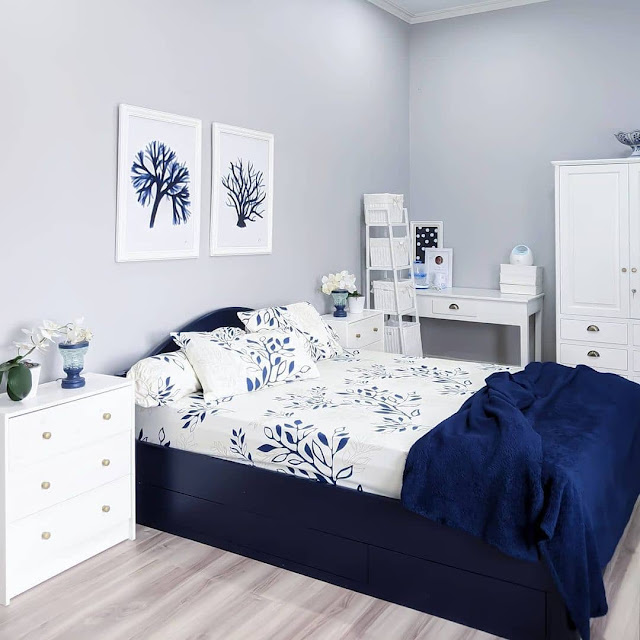 Warna Cat Kamar Tidur Abu-abu untuk Ruangan Sempit