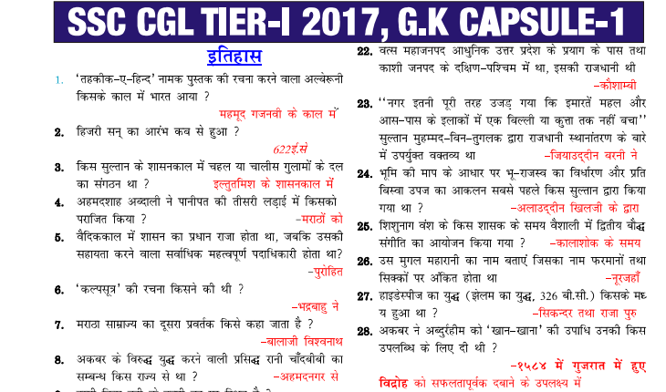Ssc Cgl Gk Capsule General Awareness Pdf