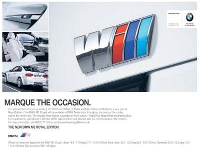BMW April Fools 2011 M3 Royal Edition