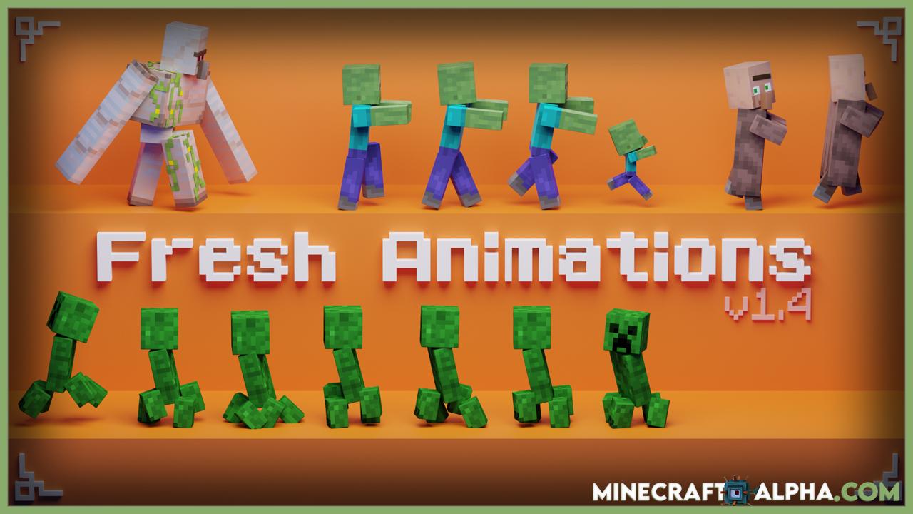 Minecraft Fresh Animations Resource Pack 1.17.1