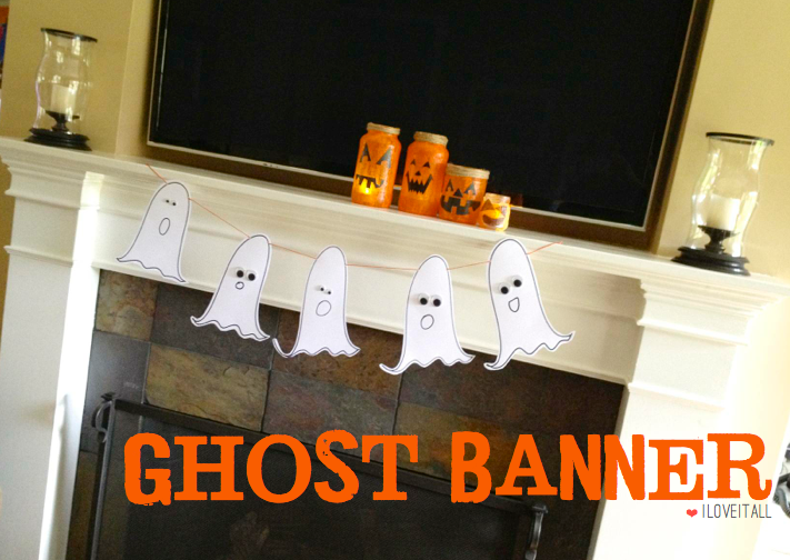Ghost Banner | iloveitallwithmonikawright.com   #halloween #banner #ghosts