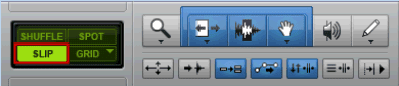 Enable Slip Editing Mode in Pro Tools