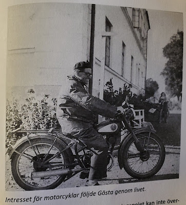 The interest in motorcycles followed Gösta throughout life  (Olsson & Jonason - Gösta Caroli: Dubbelagent Summer)