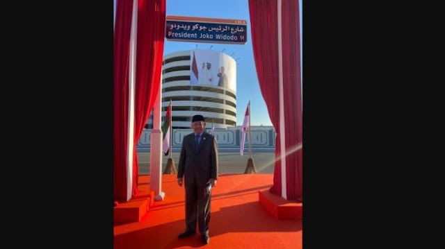 Wih Keren! Ada Jalan Presiden Joko Widodo di Abu Dhabi