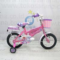 >Sepeda Anak Wimcycle Sofia The First CTB 12 Inci Lisensi