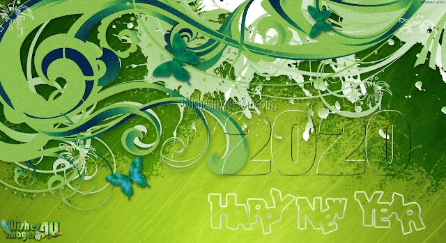 New Year 2020 Beautiful 3D Background