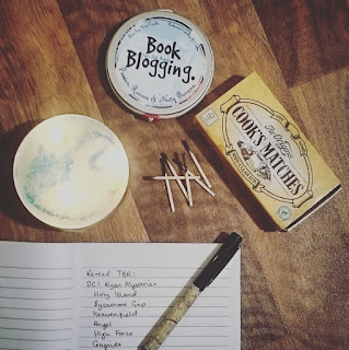 Book Blogging Candle, and planning blog posts