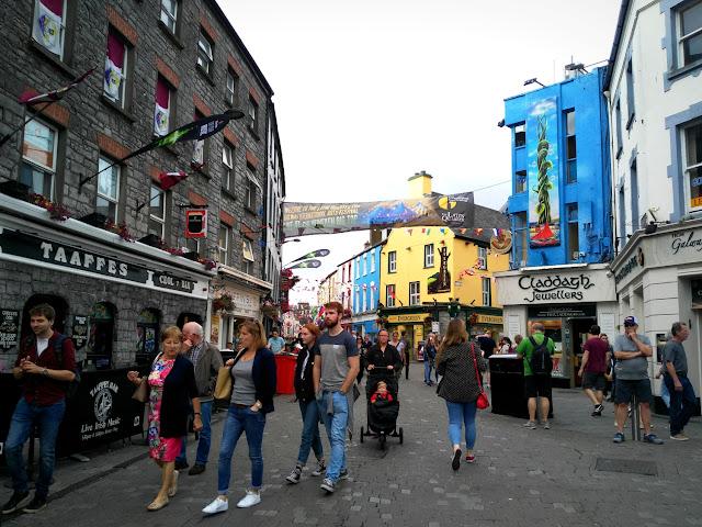 people walking shop street, Galway