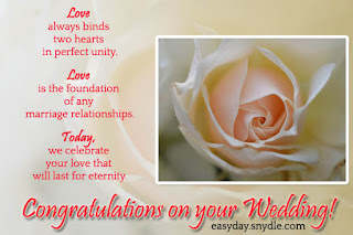 wishing you love and happiness in your marriage