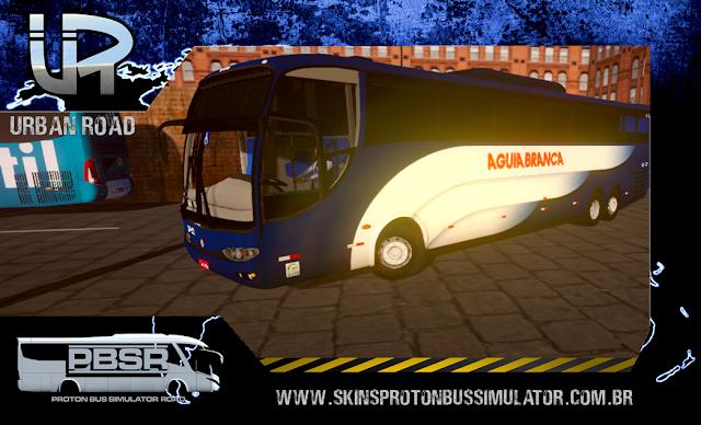 Skin Proton Bus Simulator Road - G6 1200 MB 0500 RSD Viação Aguia Branca