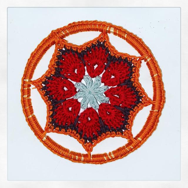 Mandala con flor africana