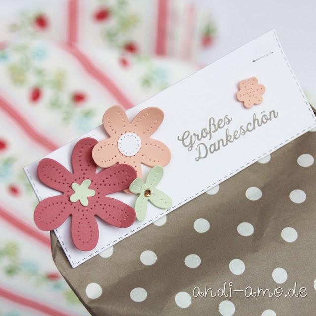 Stampin Up Blumenverziert und Perforierte Blumen