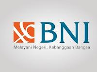 Lowongan Kerja Bank Negara Indonesia (BNI) Wilayah Sumatra