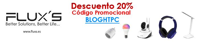 DESCUENTO 20% PRODUCTOS FLUX´S | Código Promocional: BLOGHTPC