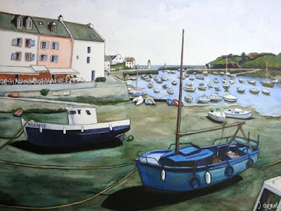 belle ile aquarelle sauzon