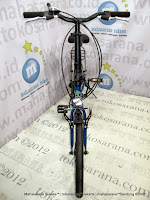 Sepeda Lipat Element City 7 Speed 20 Inci Blue