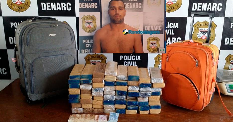 Resultado de imagem para Jovem tenta enganar policiais do Denarc, mas é preso na rodoviária com mais de 40 quilos de maconha