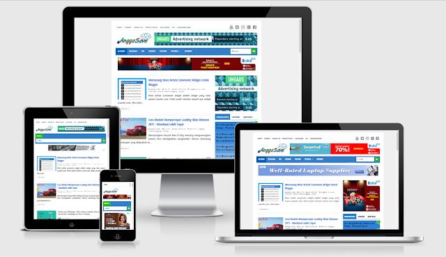 Template yang cocok responsive untuk daftar google adsense agar mudah untuk diterima full approved.
