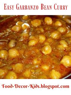 Easy Garbanzo Bean Curry