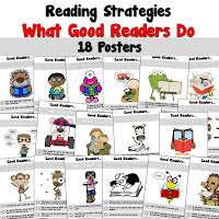 Posters to show what good readers do when they read