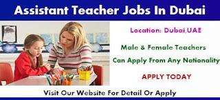Teacher Assistant Job Recruitment in Dubai
