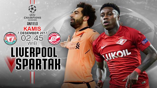 Prediksi Liverpool vs Spartak Moscow Liga Champions