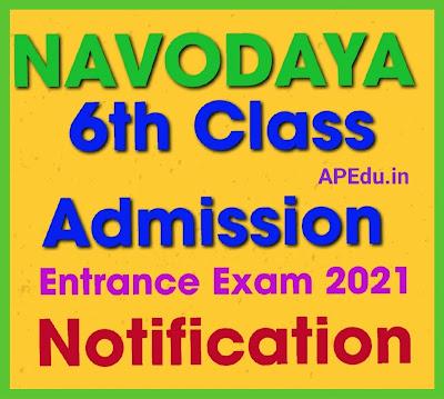 Navodaya 6th Class Admission Online Apply Form 2021 – JNVST Notification, Syllabus, Exam Pattern.