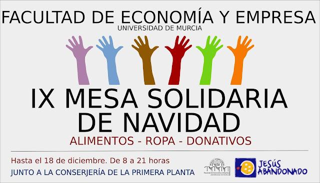 IX Mesa solidaria Facultad Economía y Empresa.