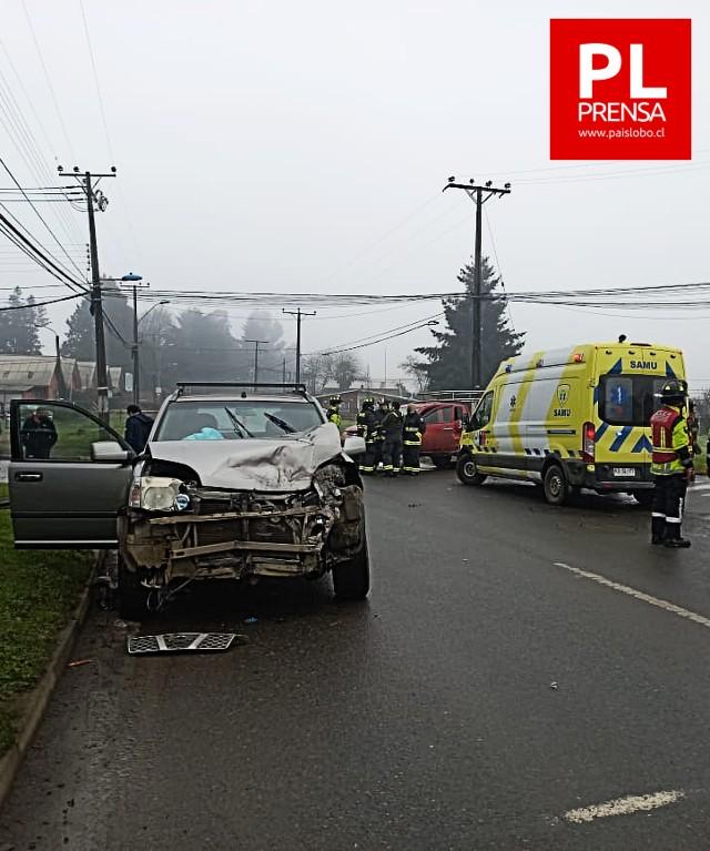 Osorno: accidente de tránsito en villa Panorámica