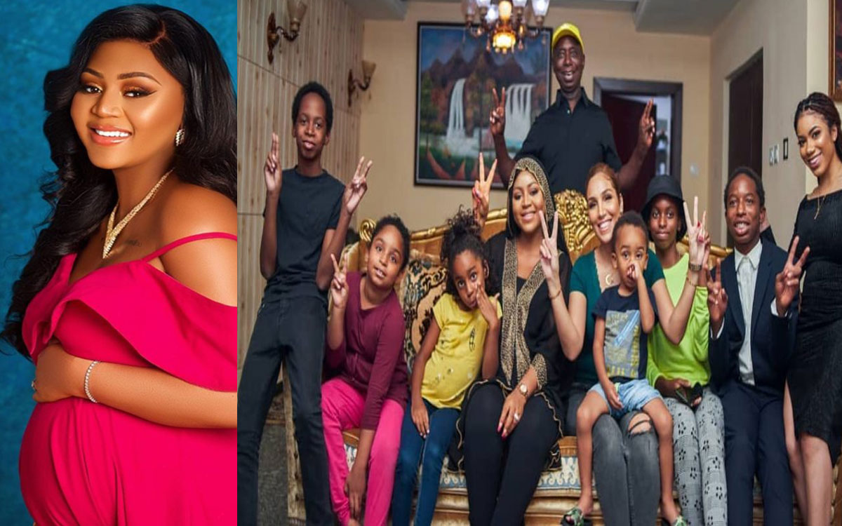 Father Abraham, Father Of All Nations' – Nigerians Hail Regina Daniels' Husband, As He Flaunts His Wives And Kids On IG #Arewapublisize