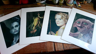 Harry Potter portrait prints by Robin Springett available from the Magic Bean Emporium