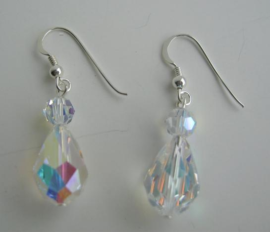 Aurora Borealis Crystal Earrings Vintage