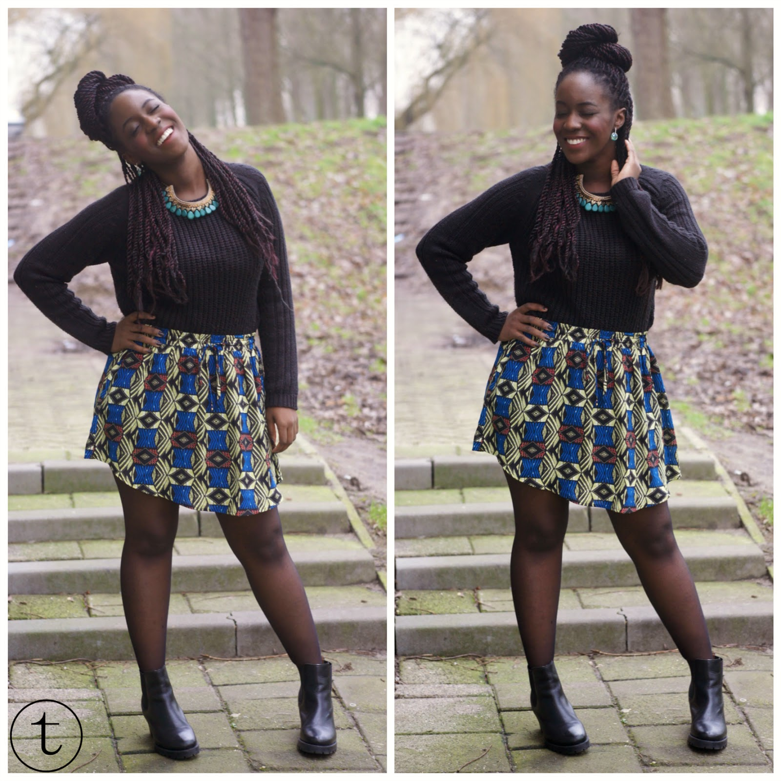 skirt with prints