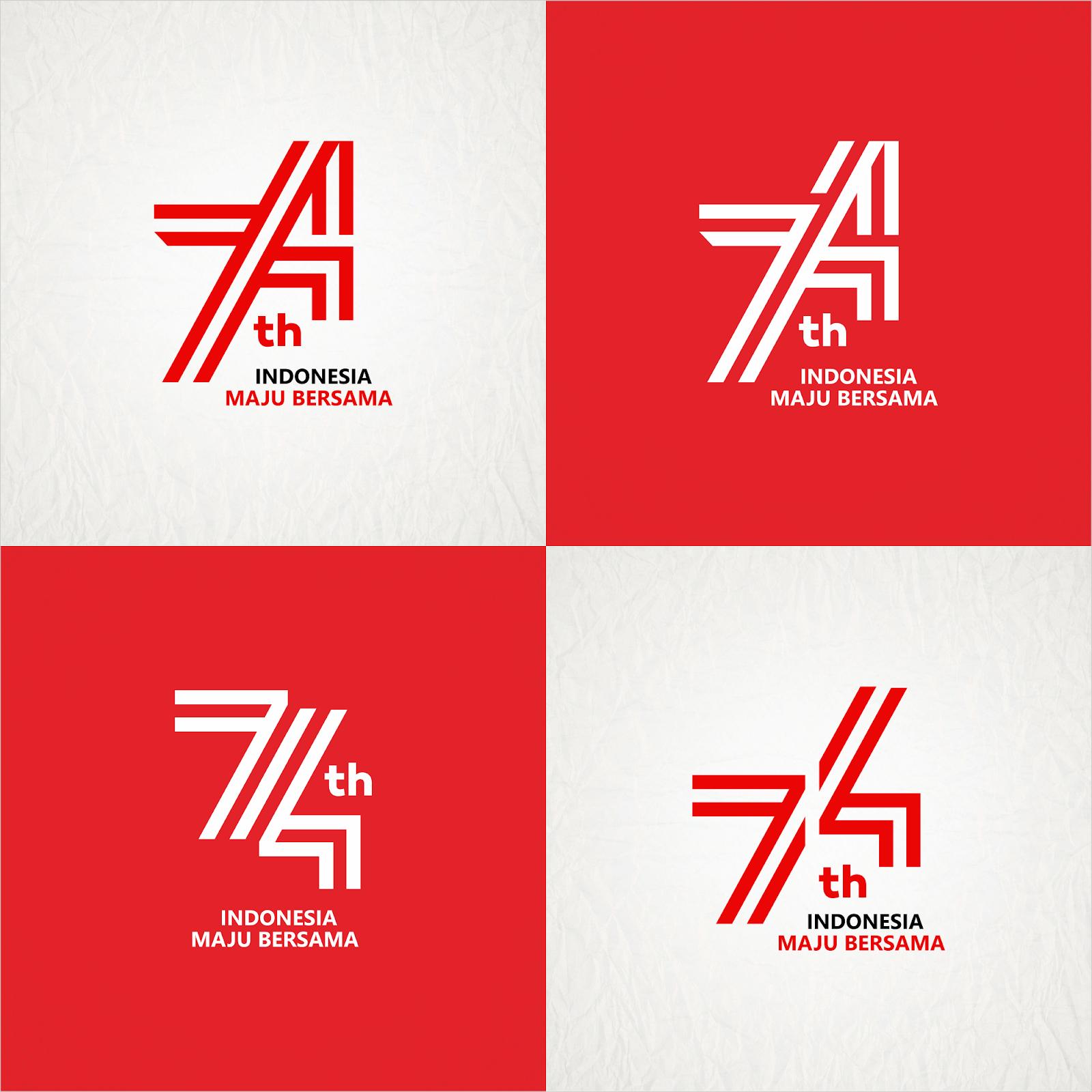 HUT RI 74 INDONESIA MAJU BERSAMA Logo vector (.cdr) - BlogoVector