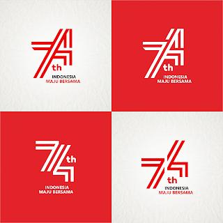 HUT RI 74 INDONESIA MAJU BERSAMA Logo vector (.cdr)