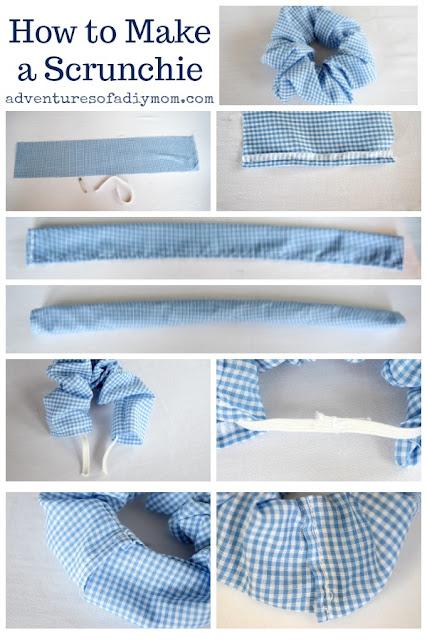 Step-by-step scrunchie diy