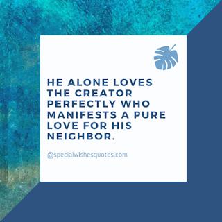 He Alone Loves.