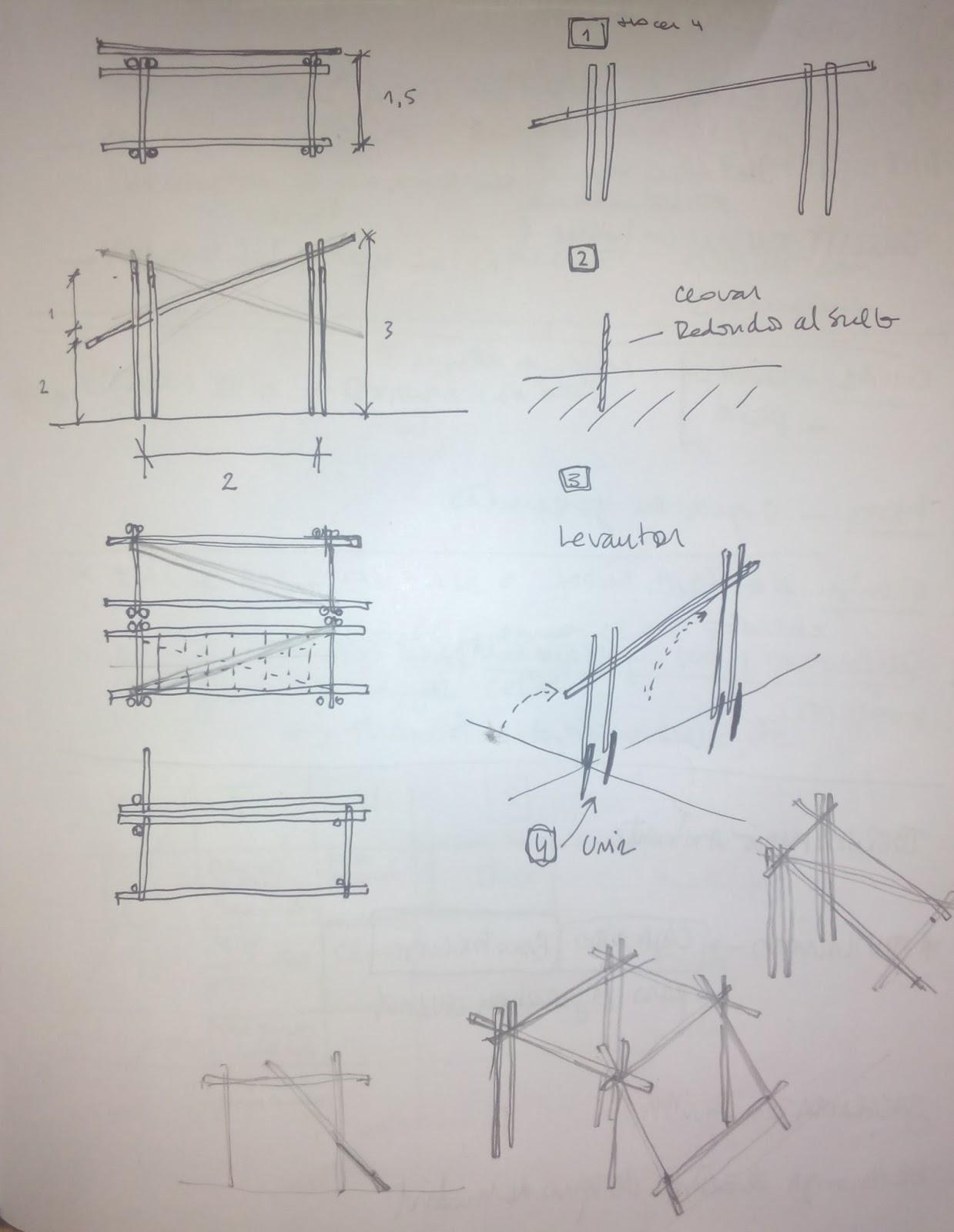 Va De Fibras Pérgolas Con Estructura De Bambú Y Tejidos