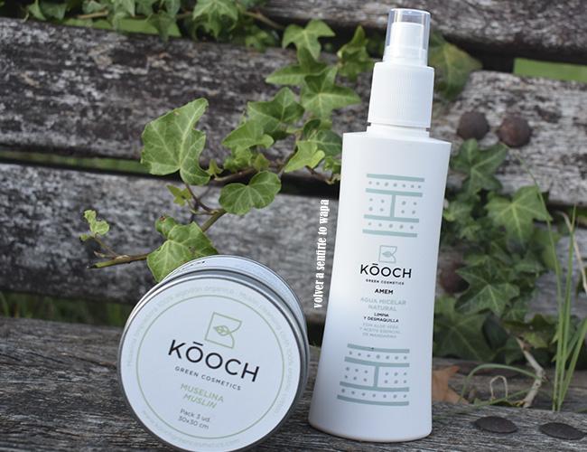 Kooch de Green Cosmetic - Agua Micelar y Muselinas