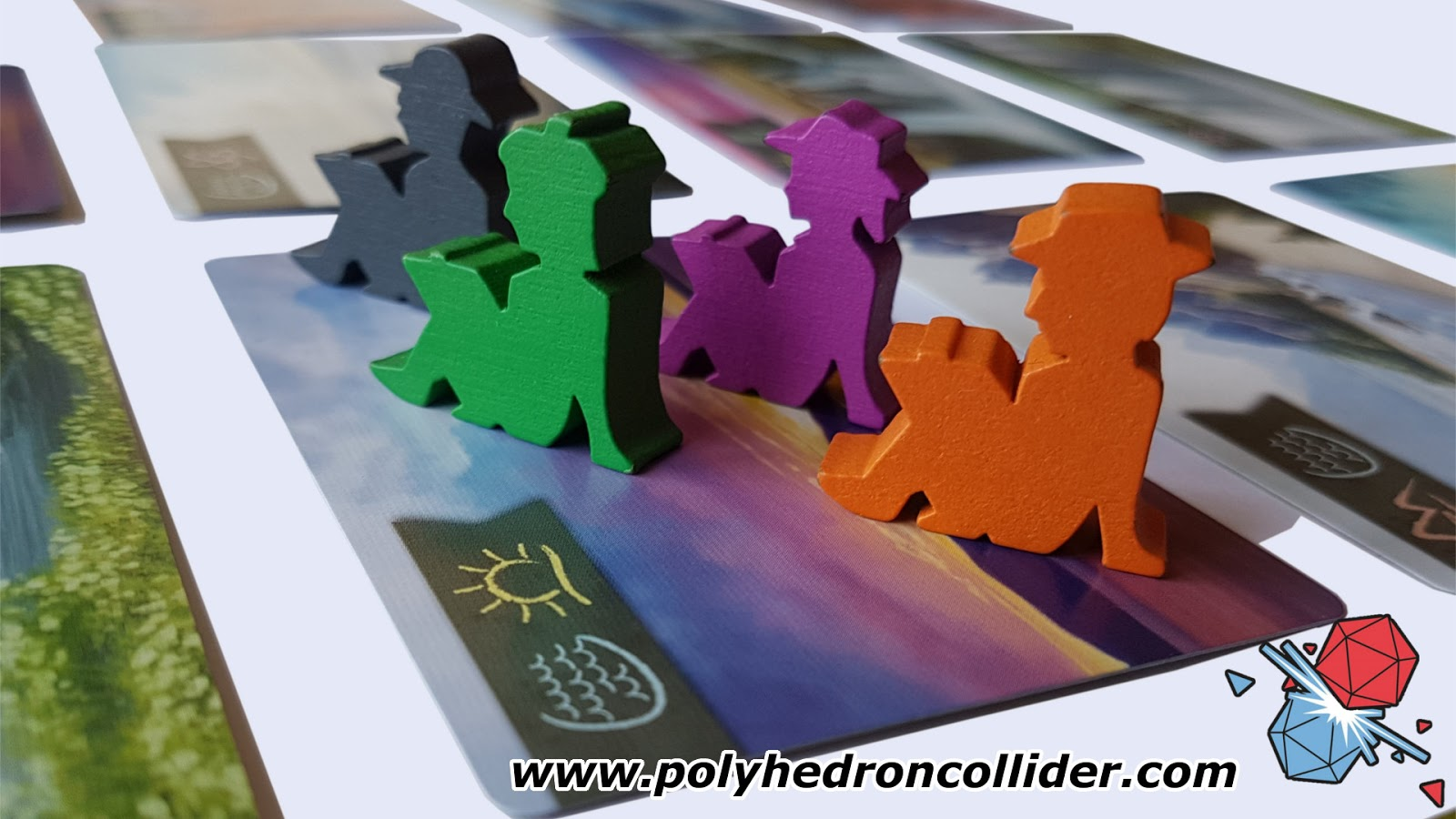 SUNSET OVER WATER REVIEW  ARTIST MEEPLE CLOSE UP