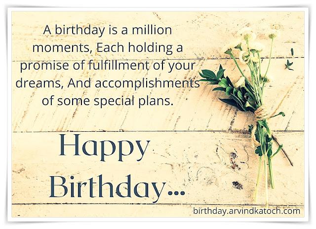 Birthday Card (A birthday is a million moments)